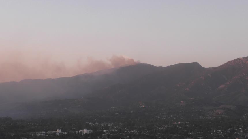 fire in hills santa barbara