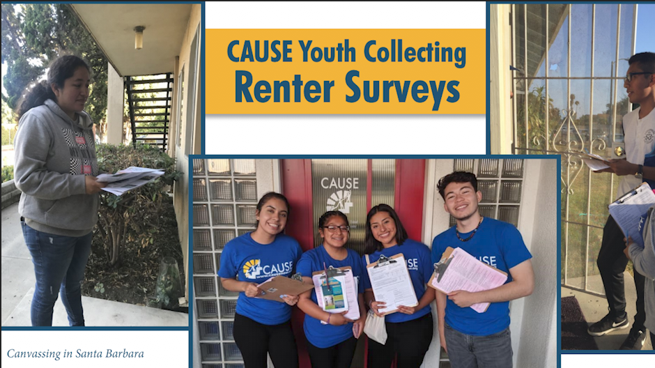 CAUSE surveyed nearly 600 renters in Santa Barbara and Ventura counties in effort to address housing crisis.