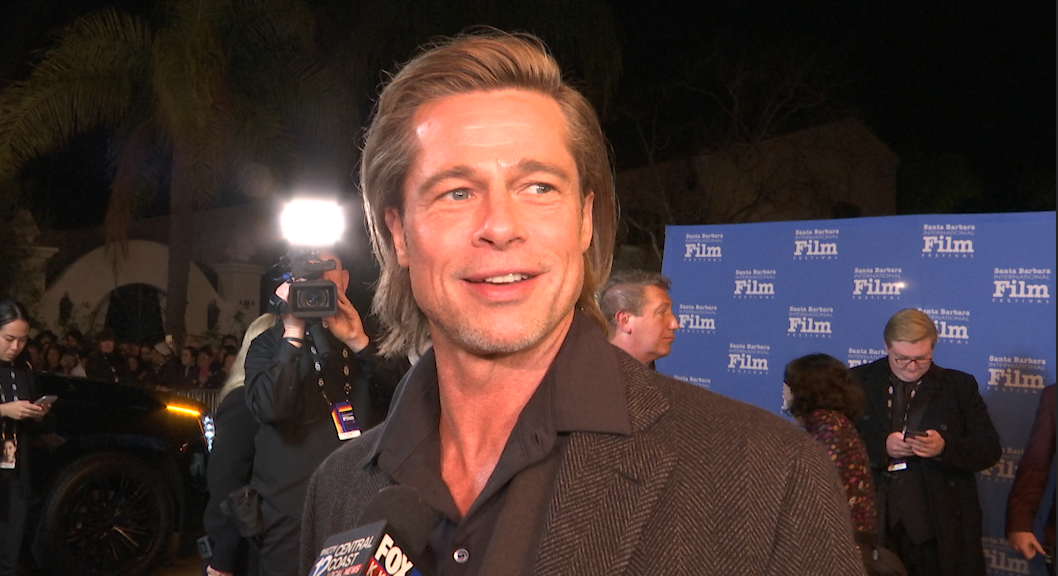 Brad Pitt receives Maltin Modern Master Award at the Santa Barbara International Film Festival.