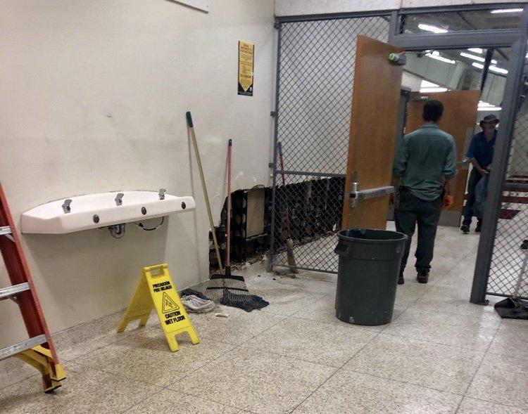 Sports Pavilion water damage