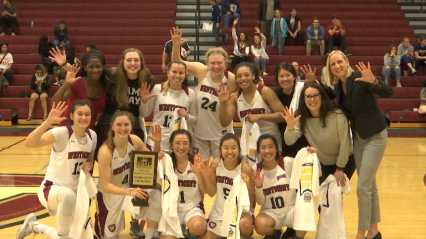Westmont women's basketball wins GSAC Tournament title