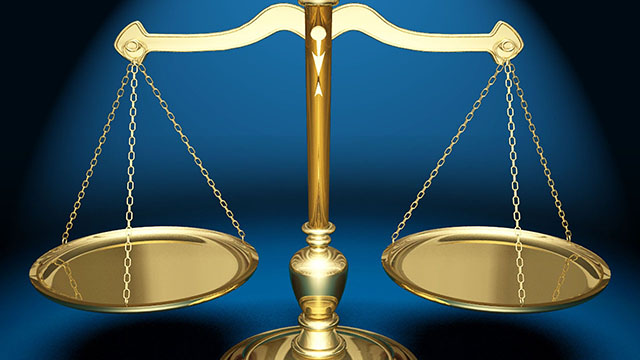 law justice scales crime