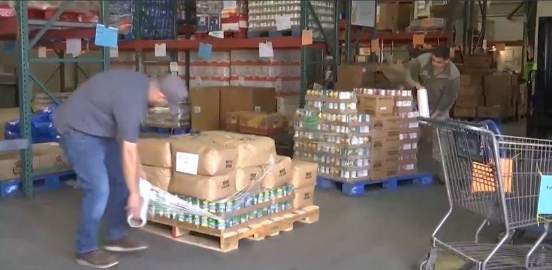 national guard helps foodbank