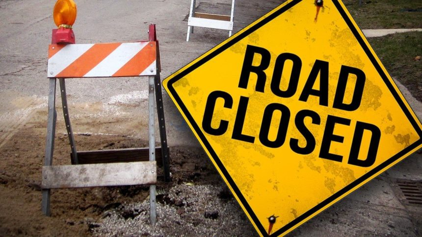 road closed closure