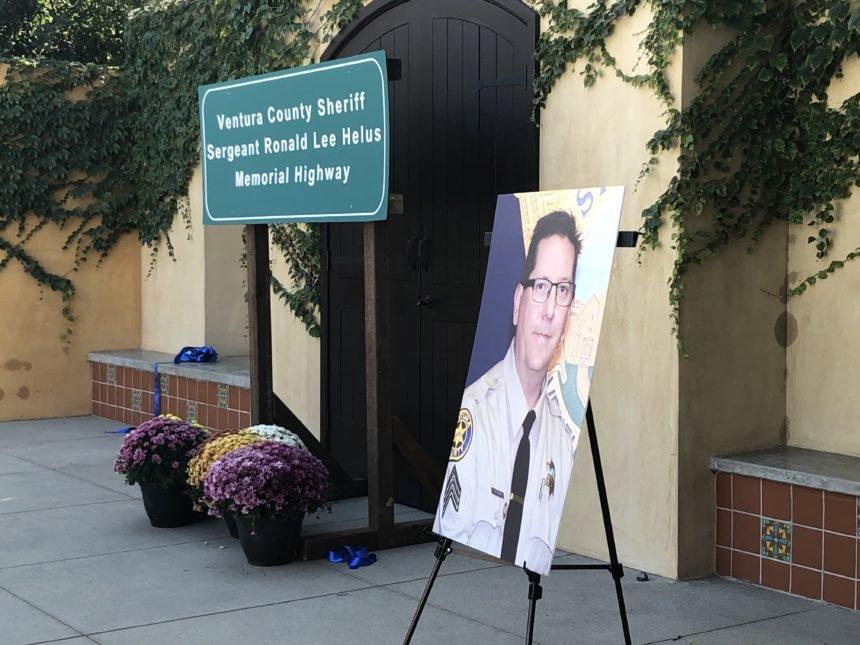Ron Helus Highway memorial sign