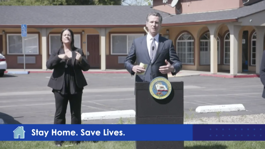 Gov Newsom announces roomkey project