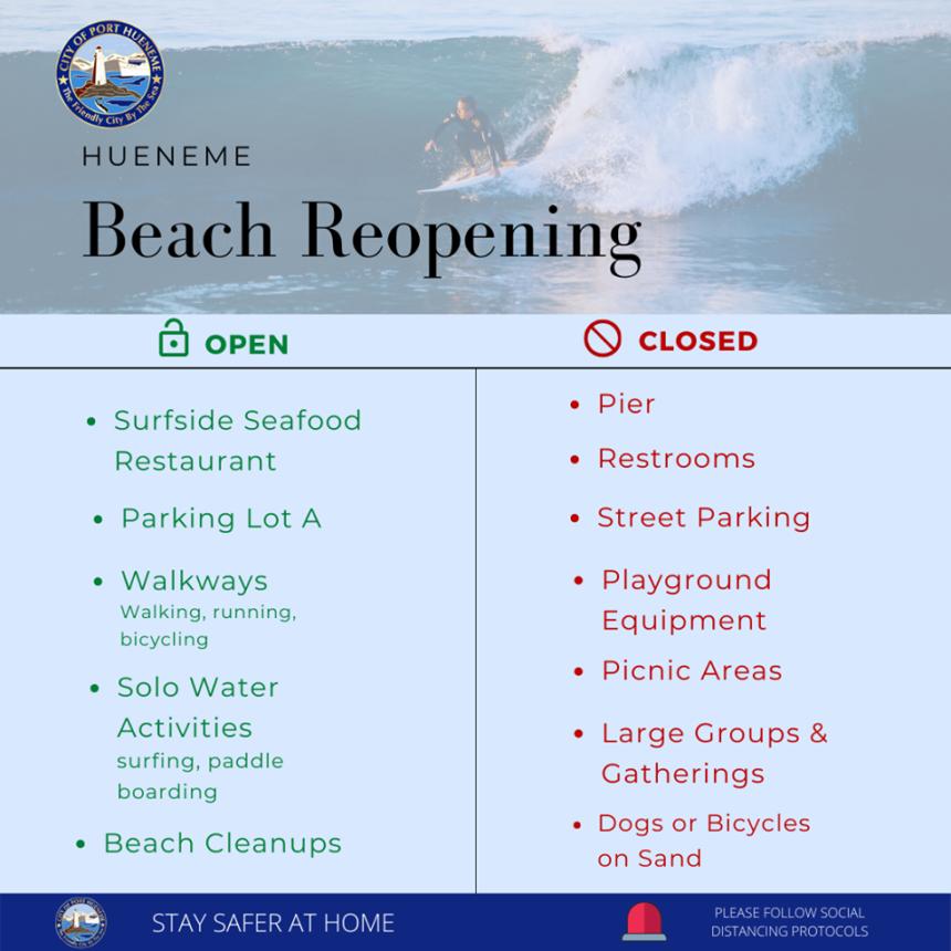 hueneme beach reopens