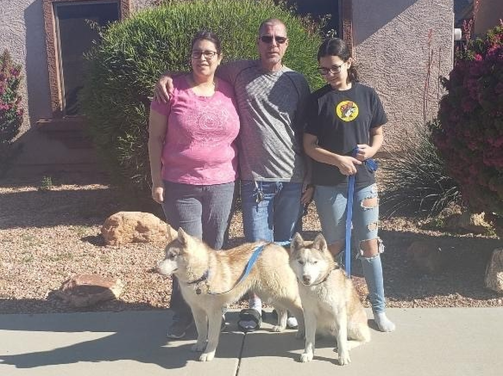 The pets belonging to a Lompoc woman who was shot and killed in March are now in Texas with her family