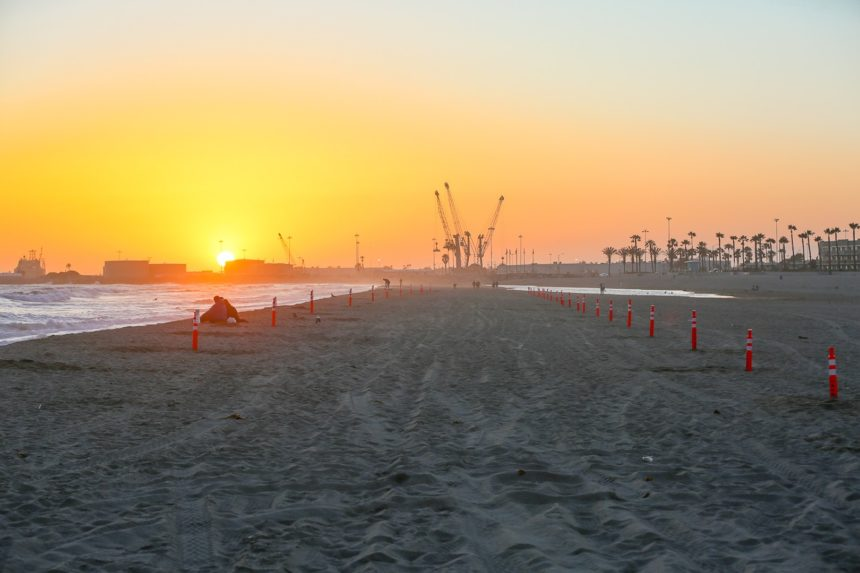 port hueneme beach markers lines