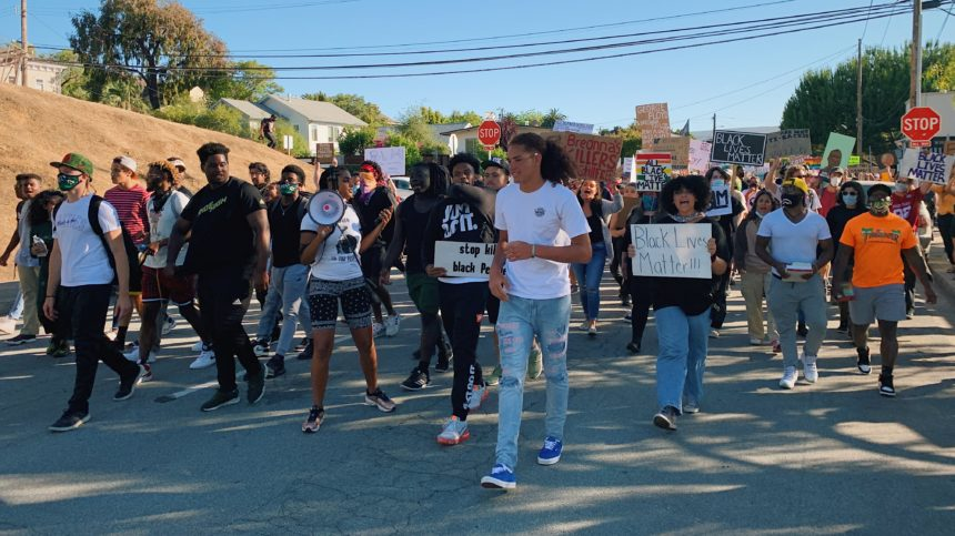Protesters in San Luis Obispo