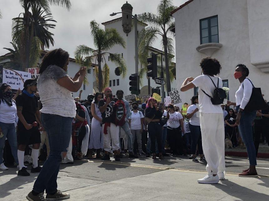 BLM protest in Santa Barbara