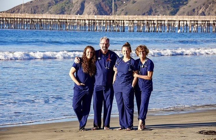 Carly, Mike, Retta, and Taylor, Dignity Health Central Coast Nurses, pos...
