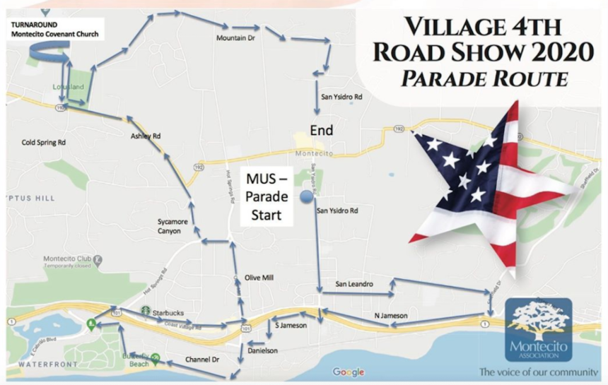 Montecito 4th of July route