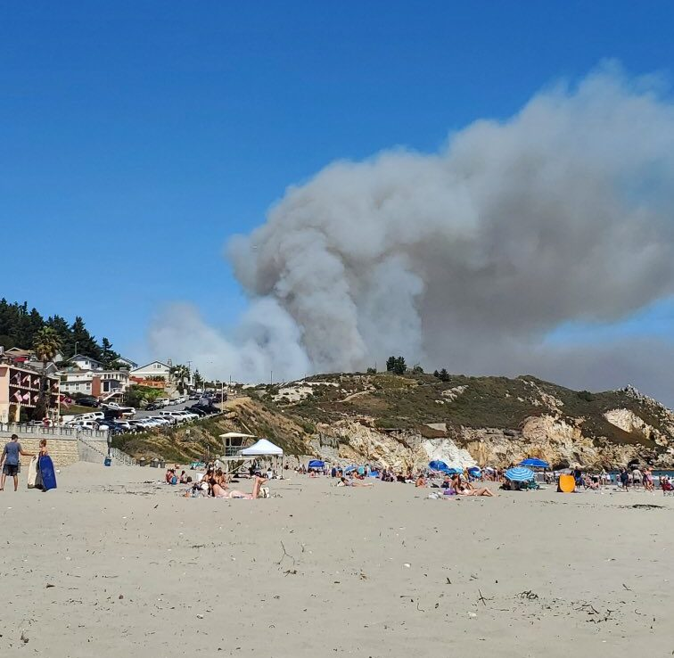 avila fire beach smoke 2