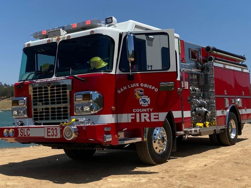 cal fire truck san luis obispo county