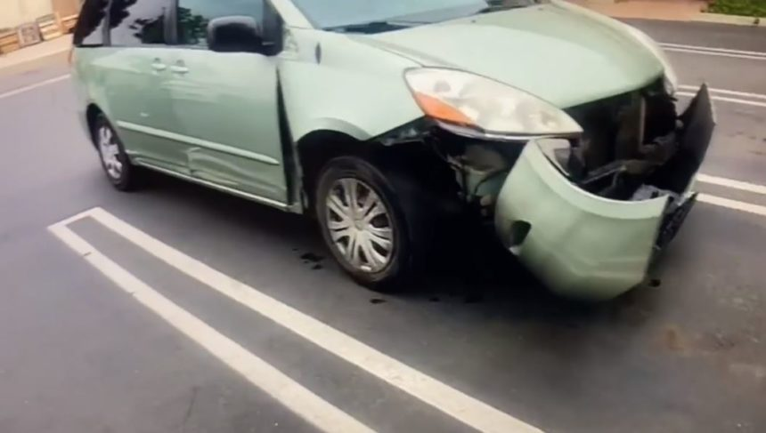 damaged fire hydrant car hit and run