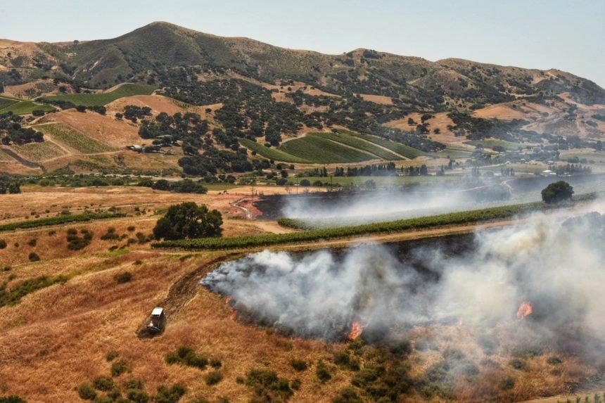 drum fire wideshot hills