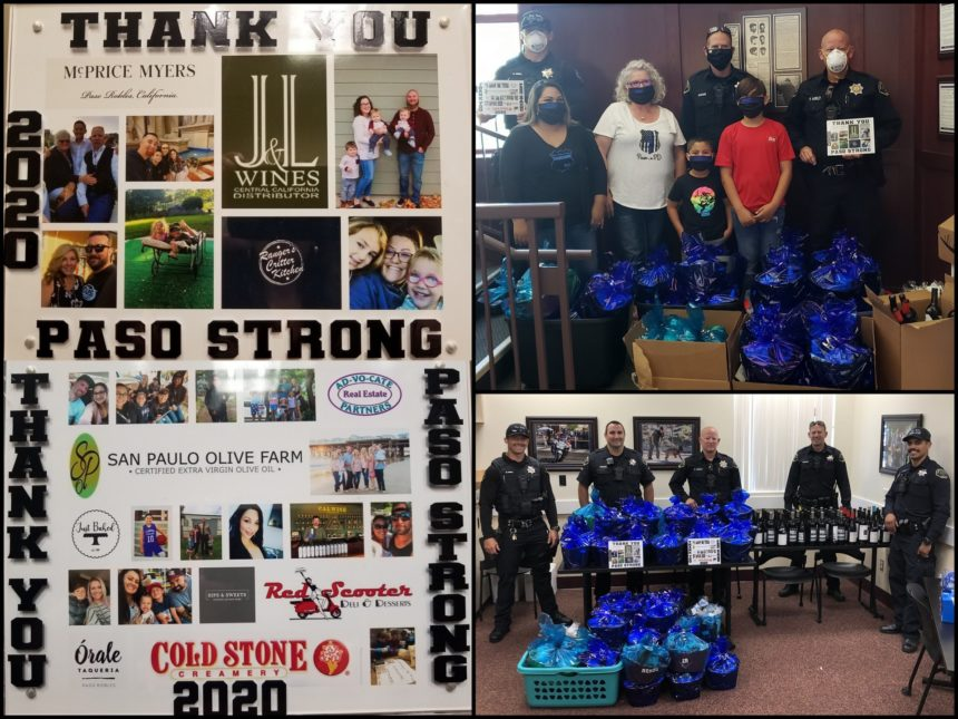 paso robles police thank you gift paskets