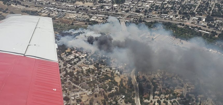 river fire paso robles from air