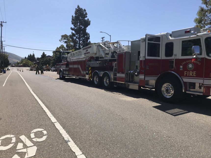 slo city gas line ruptured