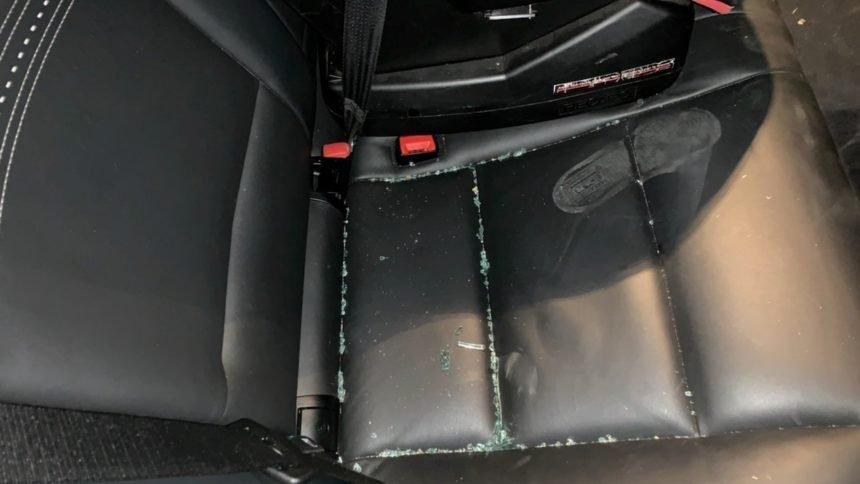 Car vandalized during Black Lives Matter protest in SLO
