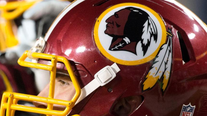 Redskins logo helmet