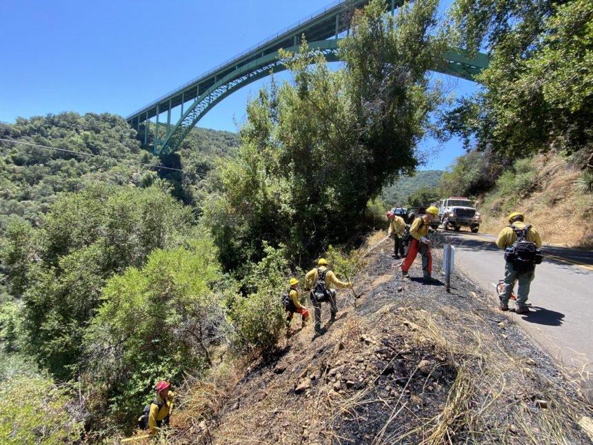 firefighters below cold spring bridge