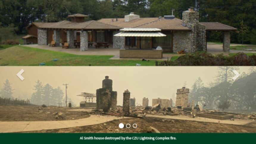 al smith house destroyed in fire at swanton pacific ranch