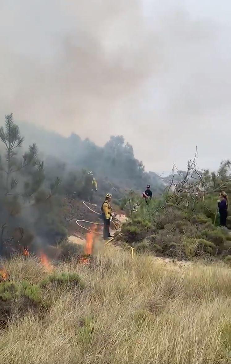 five cities fire oceano dunes mini fire 2