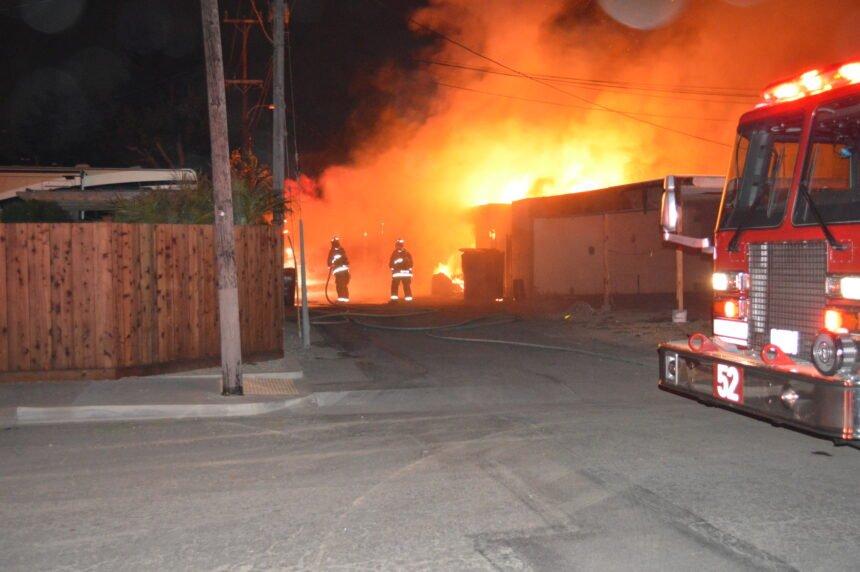 Lompoc carport fire