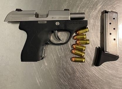 Firearm found in luggage SBA