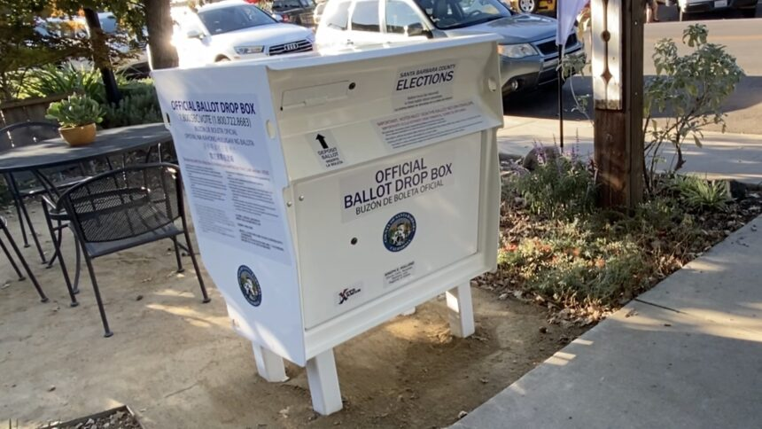 Election vote by mail box