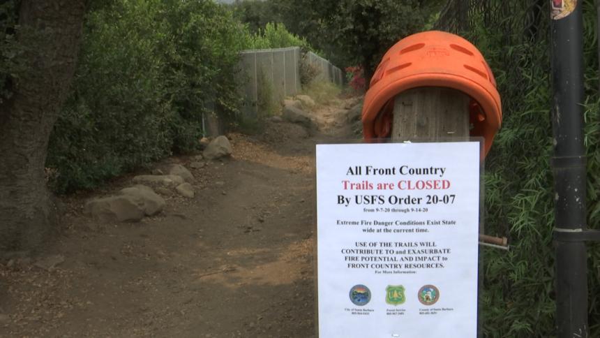 Trails closed notice