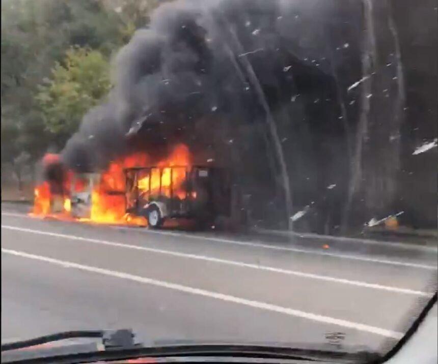 chp car fire cuesta grade labor day