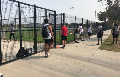 Football practice returns to Oxnard High School Union