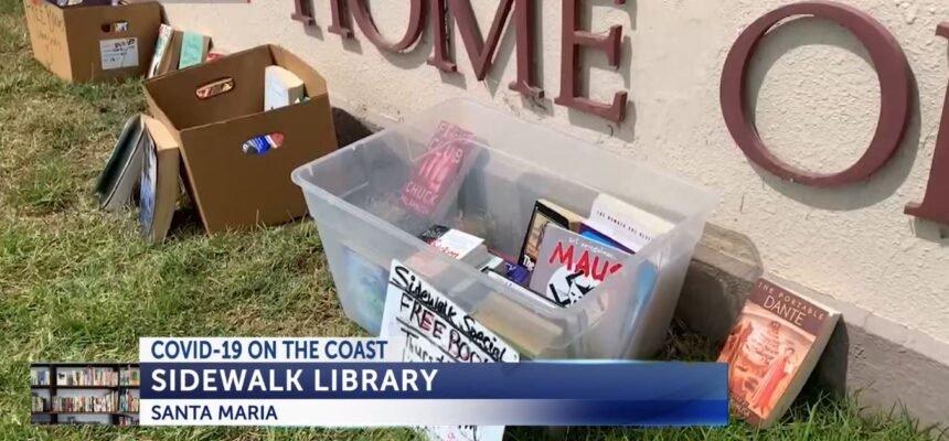 santa maria sidewalk library