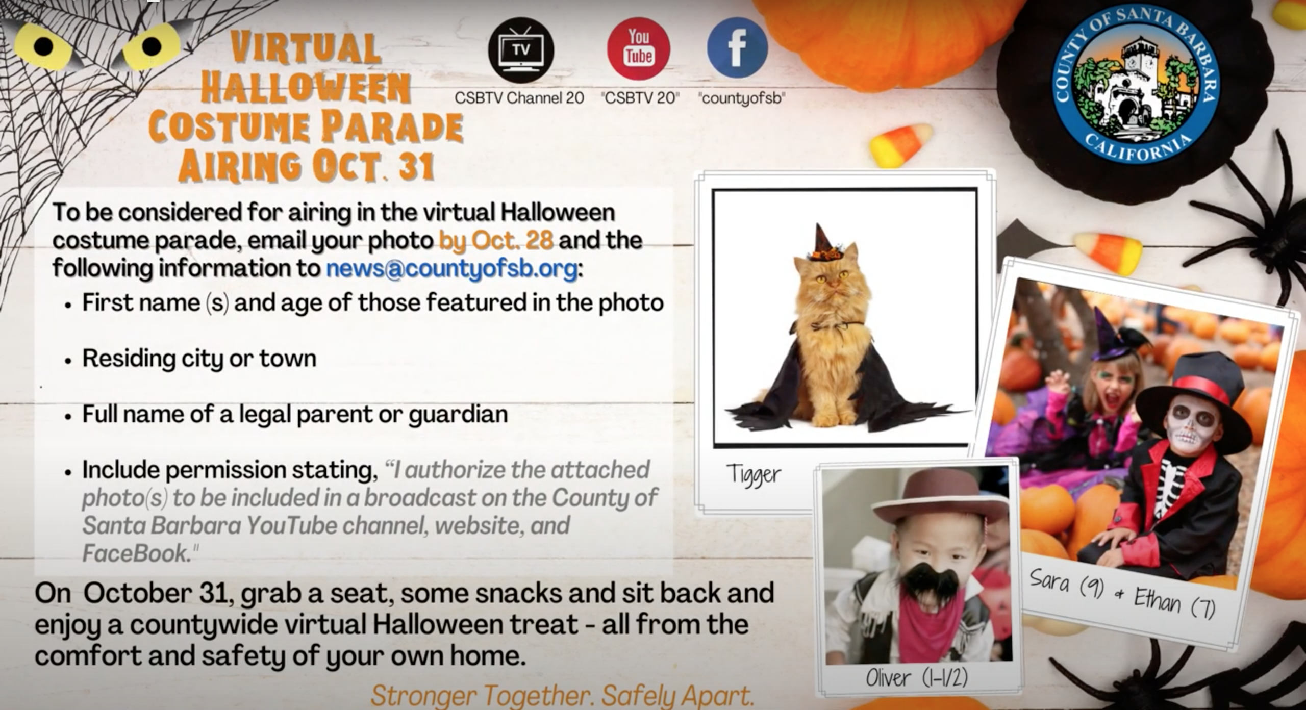 Halloween Costumes For October 2020 That All Ages Will Get Santa Barbara County to hold virtual Halloween costume parade