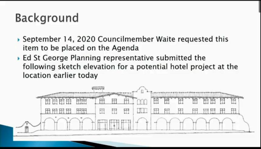 Ed St. George proposed hotel development