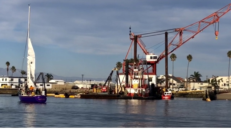 Dredging in Channel Island Harbor