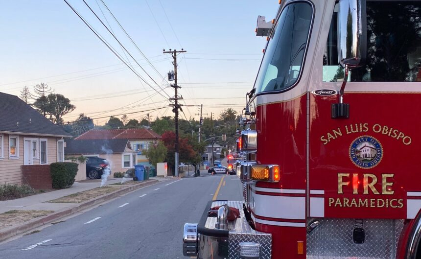 SLO City Fire downed power lines