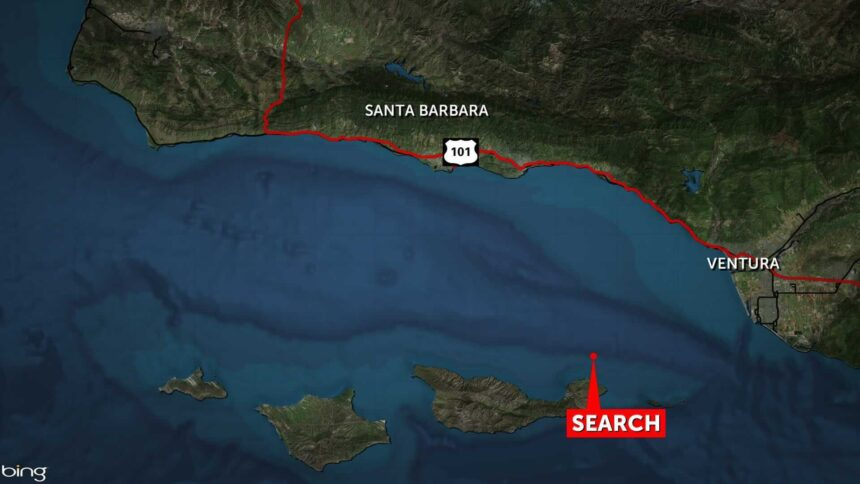 missing diver search map