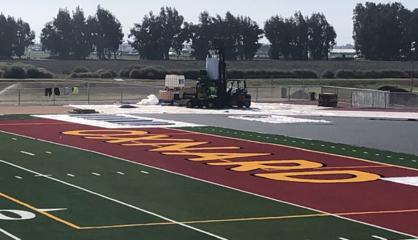 Oxnard High artificial turf field