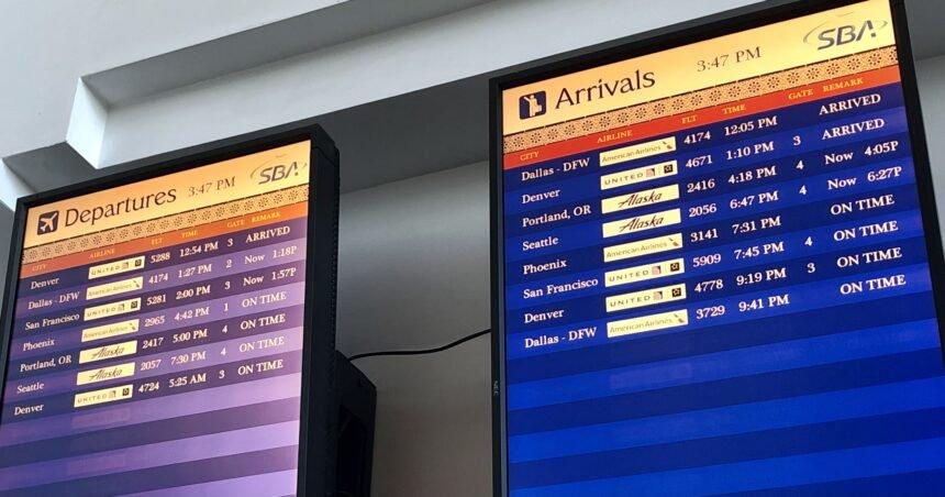 Santa Barbara Airport departures and arrivals