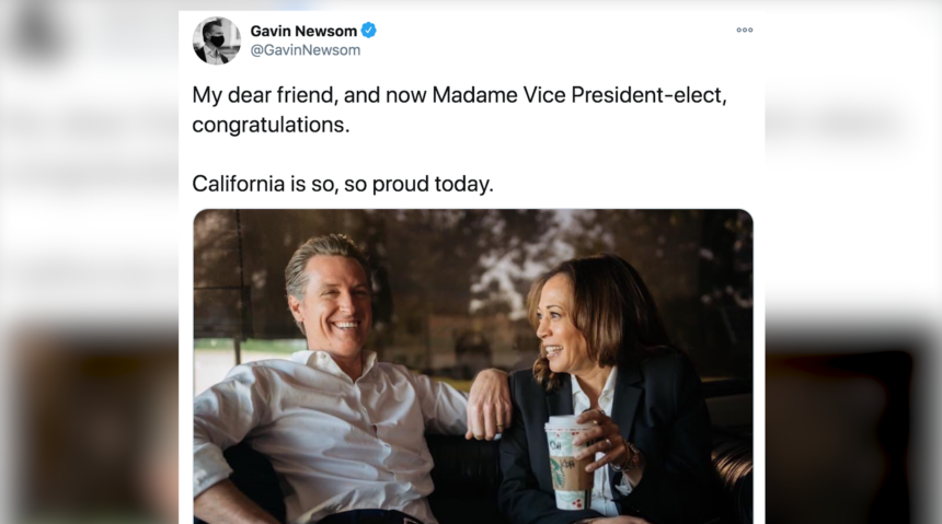 Newsom tweet