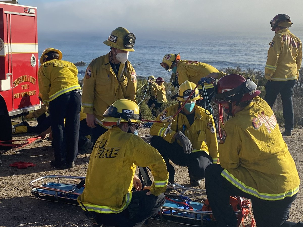 An injured hiker was rescued after they went over the side in Pismo Beach.