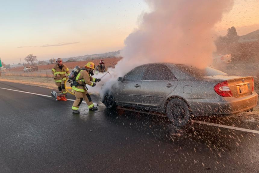hwy 101 car fire