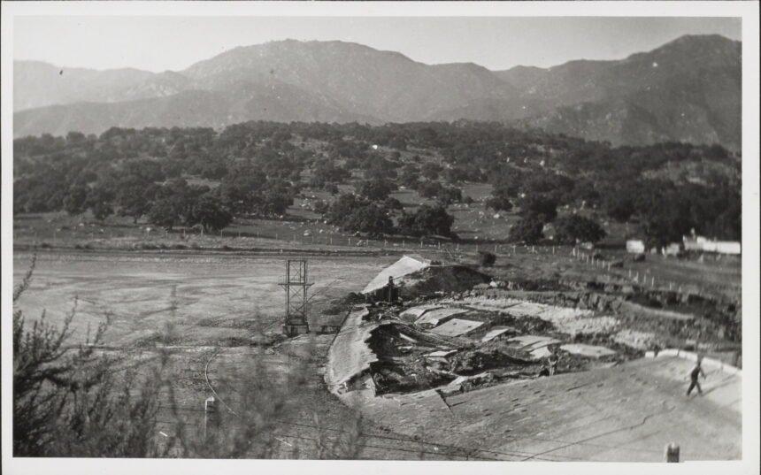 santa barbara flood after sheffield dam broke in 1925 earthquake