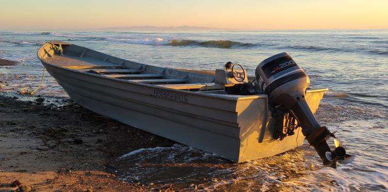 Customs and Border Patrol detained 15 undocumented immigrants after a smuggling boat washed ashore near Goleta Beach