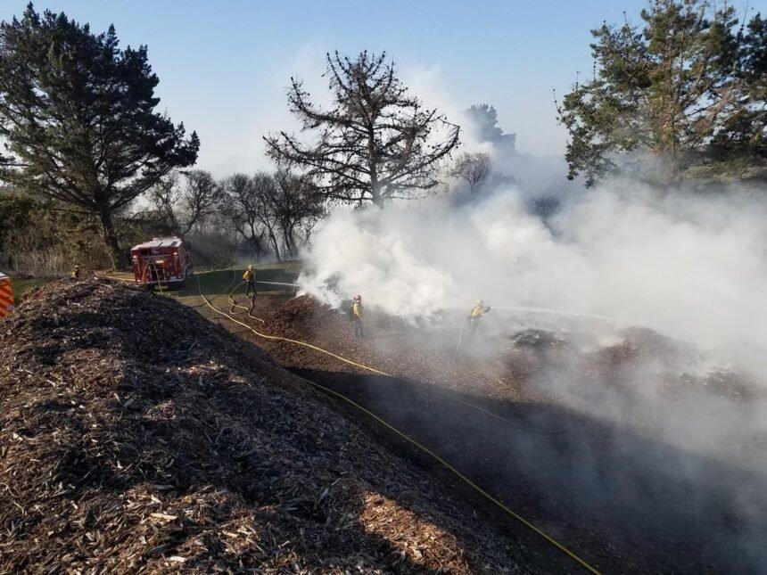 San Simeon Garbage fire