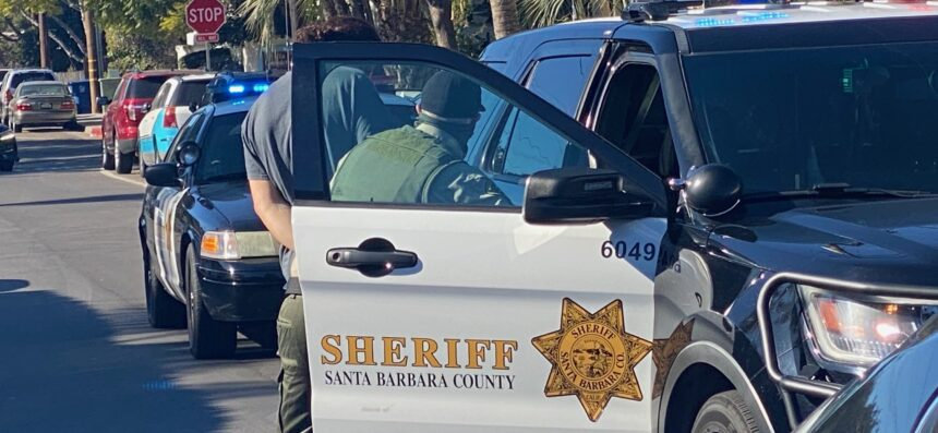 Santa Barbara County Sheriff car chase arrest